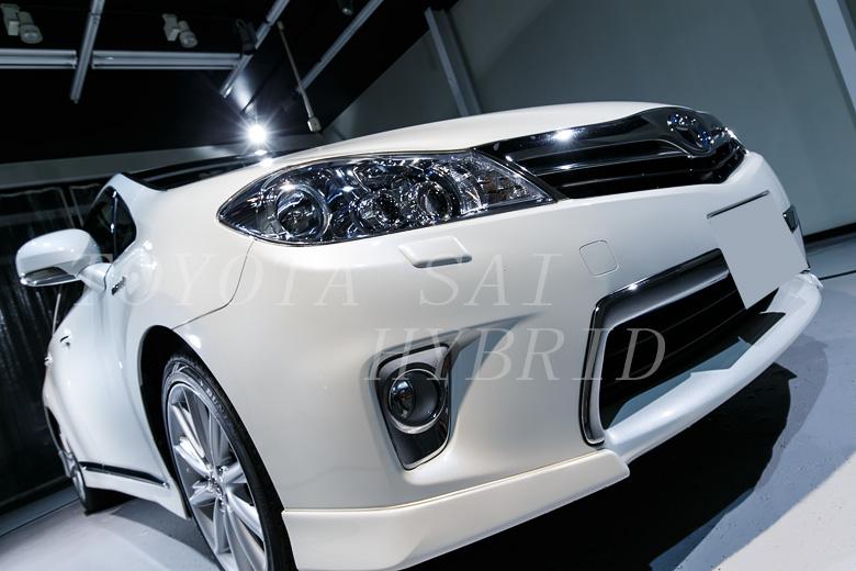 トヨタ SAI 磨きとガラスコーティング施工事例